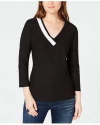 INC International Concepts - I.n.c. Colorblocked Top, Created For Macy's - Lyst