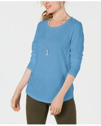 Style & Co. - Long-sleeve Crewneck Top, Created For Macy's - Lyst