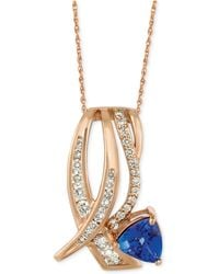Le Vian - Tanzanite (1 Ct. T.w.) And Diamond (5/8 Ct. T.w.) Pendant Necklace In 14k Rose Gold - Lyst