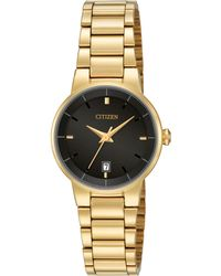 Citizen - Women's Gold-tone Stainless Steel Bracelet Watch 27mm Eu6012-58e - Lyst