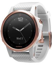 Garmin - Unisex Fenix® 5s White Silicone Strap Smart Watch 42mm - Lyst