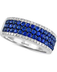 Effy Collection - Final Call By Effy® Sapphire (1-1/8 Ct. T.w.) & Diamond (1/4 Ct. T.w.) Ring In 14k White Gold - Lyst