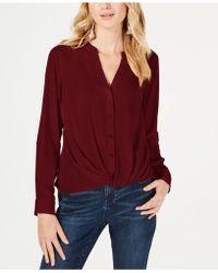 d748a5da4d6 Lyst - INC International Concepts Plus Size Knit-panel Utility Shirt ...