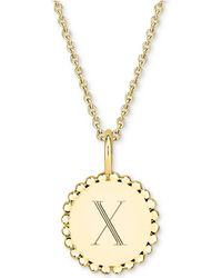 "Sarah Chloe - Initial Medallion Pendant Necklace In 14k Gold-plated Sterling Silver, 16"" + 2"" Extender - Lyst"