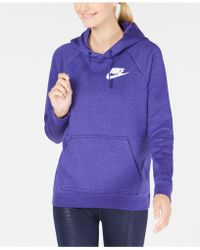 38d9f6fa0fd3 Lyst - Nike Sportswear Rally Fleece Hoodie in Blue
