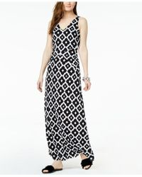 INC International Concepts - I.n.c. Printed V-back Maxi Dress, Created For Macy's - Lyst