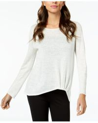Eileen Fisher - Organic Linen Twist-front Top - Lyst