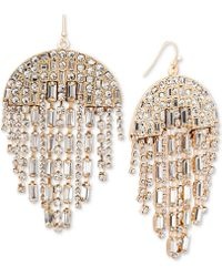 Steve Madden - Crystal Chandelier Earrings - Lyst