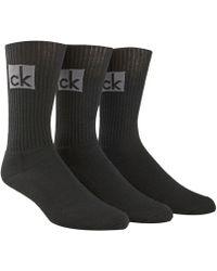 Calvin Klein - Men's 3-pk. Logo Socks - Lyst