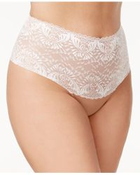 Inspire Psyche Terry - Goddess Plus Size Sheer Lace Thong Ipts054 - Lyst