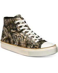 Roberto Cavalli - Mike Tiger-print High-top Sneakers - Lyst