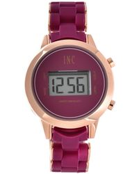 INC International Concepts - Digital Boyfriend Rose Gold-tone & Silicone Bracelet Watch 36mm, Created For Macy's - Lyst