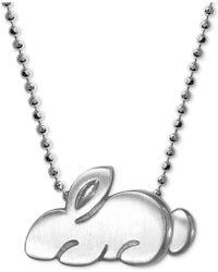 Alex Woo - Little Rabbit Pendant Necklace In Sterling Silver - Lyst