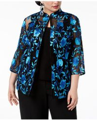 Alex Evenings - Plus Size Embroidered Jacket & Shell - Lyst