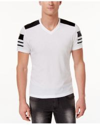 INC International Concepts - Faux-leather Pieced T-shirt, Created For Macy's - Lyst