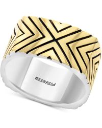 Effy Collection - Statement Ring In Sterling Silver & 18k Gold-plate - Lyst