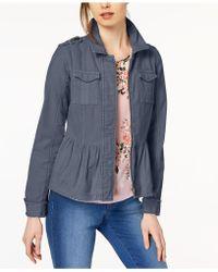Maison Jules - Cotton Peplum Jacket, Created For Macy's - Lyst