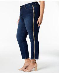 fad9c5be5e2 Lyst - Charter Club Plus Size Bristol Tummy-control Capri Jeans ...