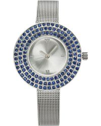 Charter Club - Silver-tone Crystal-halo Mesh Bracelet Watch 31mm, Created For Macy's - Lyst