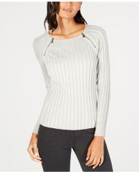 INC International Concepts - I.n.c. Zipper-detail Raglan Sleeve Jumper, Created For Macy's - Lyst