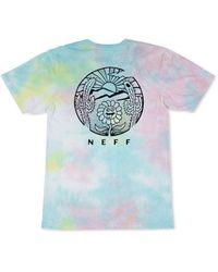 Neff Melt Away Graphic T-shirt - Blue
