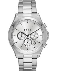 DKNY - Parsons Stainless Steel Bracelet Watch 44mm, Created For Macy's - Lyst
