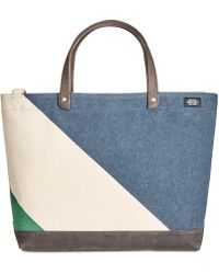Jack Spade - Men's Industrial Canvas Diagonal Dipped Coal Bag - Lyst