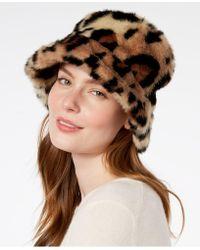 Steve Madden - Leopard-print Faux-fur Bucket Hat - Lyst