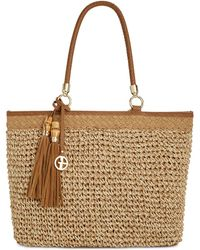 Giani Bernini - Woven Extra-large Beach Tote, Created For Macy's - Lyst
