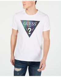 77911f79 Guess Camo Logo T-shirt in Blue for Men - Lyst