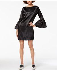 Armani Exchange   Satin Bell-sleeve Shift Dress   Lyst