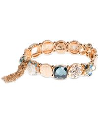 Lonna & Lilly - Gold-tone Multi-crystal Link Bracelet - Lyst
