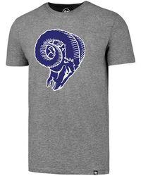 Lyst - 47 Brand Men s Los Angeles Rams Retro Logo Scrum T-shirt in ... 0ddd9bffd