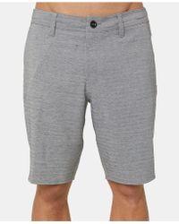 """O'neill Sportswear - Heather Herringbone 20"""" Hybrid Shorts - Lyst"""