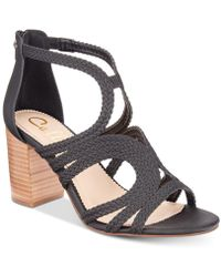 Callisto - Shindig Strappy Block-heel Sandals - Lyst