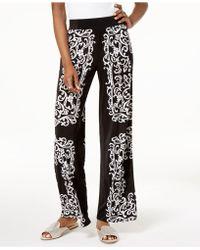 INC International Concepts - I.n.c. Printed Wide-leg Soft Pants, Created For Macy's - Lyst