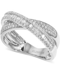 Effy Collection - Effy® Diamond Crisscross Ring (5/8 Ct. T.w.) In 14k White Gold - Lyst