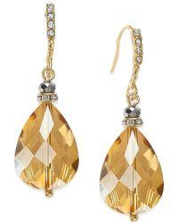 c.A.K.e. By Ali Khan - Gold-tone Faceted Teardrop Earrings - Lyst