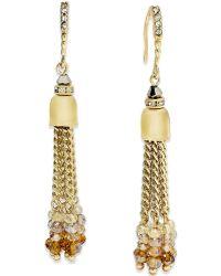 c.A.K.e. By Ali Khan - Gold-tone Tassel Drop Earrings - Lyst