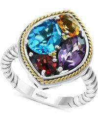 Effy Collection - Effy® Multi-gemstone Ring (4-4/8 Ct. T.w.) In Sterling Silver & 18k Gold - Lyst