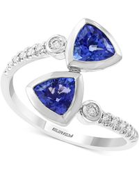 Effy Collection - Effy Tanzanite (1-3/8 Ct. T.w.) And Diamond (1/6 Ct. T.w.) Ring In 14k White Gold - Lyst