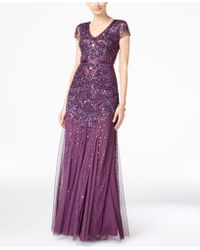 Adrianna Papell | Embellished Chiffon Gown | Lyst