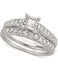 Macy's - Diamond Bridal Set (1 Ct. T.w.) In 14k White Gold - Lyst