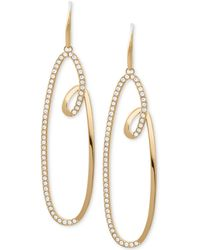 Michael Kors - Pavé Swirl Drop Hoop Earrings - Lyst