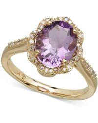 Macy's - Amethyst (2-2/5 Ct. T.w.) & Diamond (1/6 Ct. T.w.) Ring In 10k Gold - Lyst