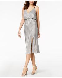 BCBGeneration - Metallic-pleated Midi Dress - Lyst