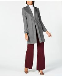 INC International Concepts - I.n.c. Faux Suede Cocoon Coat, Created For Macy's - Lyst
