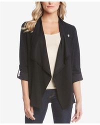 Karen Kane - Roll-tab Draped Jacket - Lyst