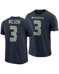 e803b6329 Nike - Russell Wilson Seattle Seahawks Player Pride Name And Number T-shirt  - Lyst