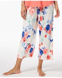 Hue - ® Play Nice Printed Capri Pyjama Trousers - Lyst